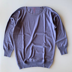 US004 Crew Neck Long Sleeve in French Blue