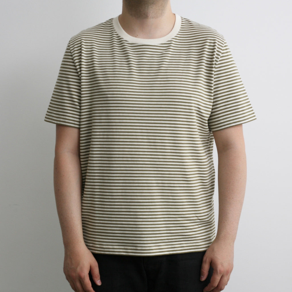 Essential T-shirt in Khaki Stripes