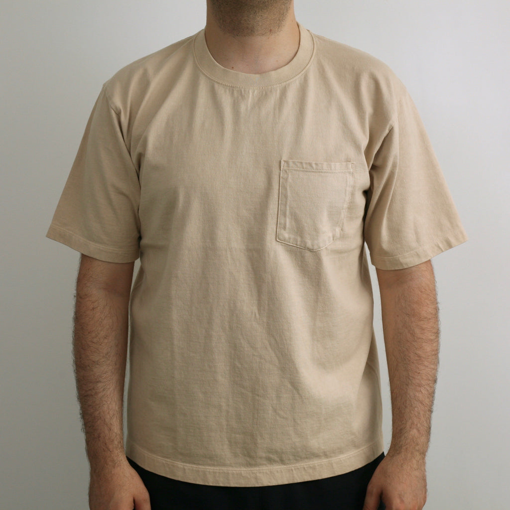 C.T.L. Saburoku Loopwheel Pocket T-Shirt - Hinoki Dyed