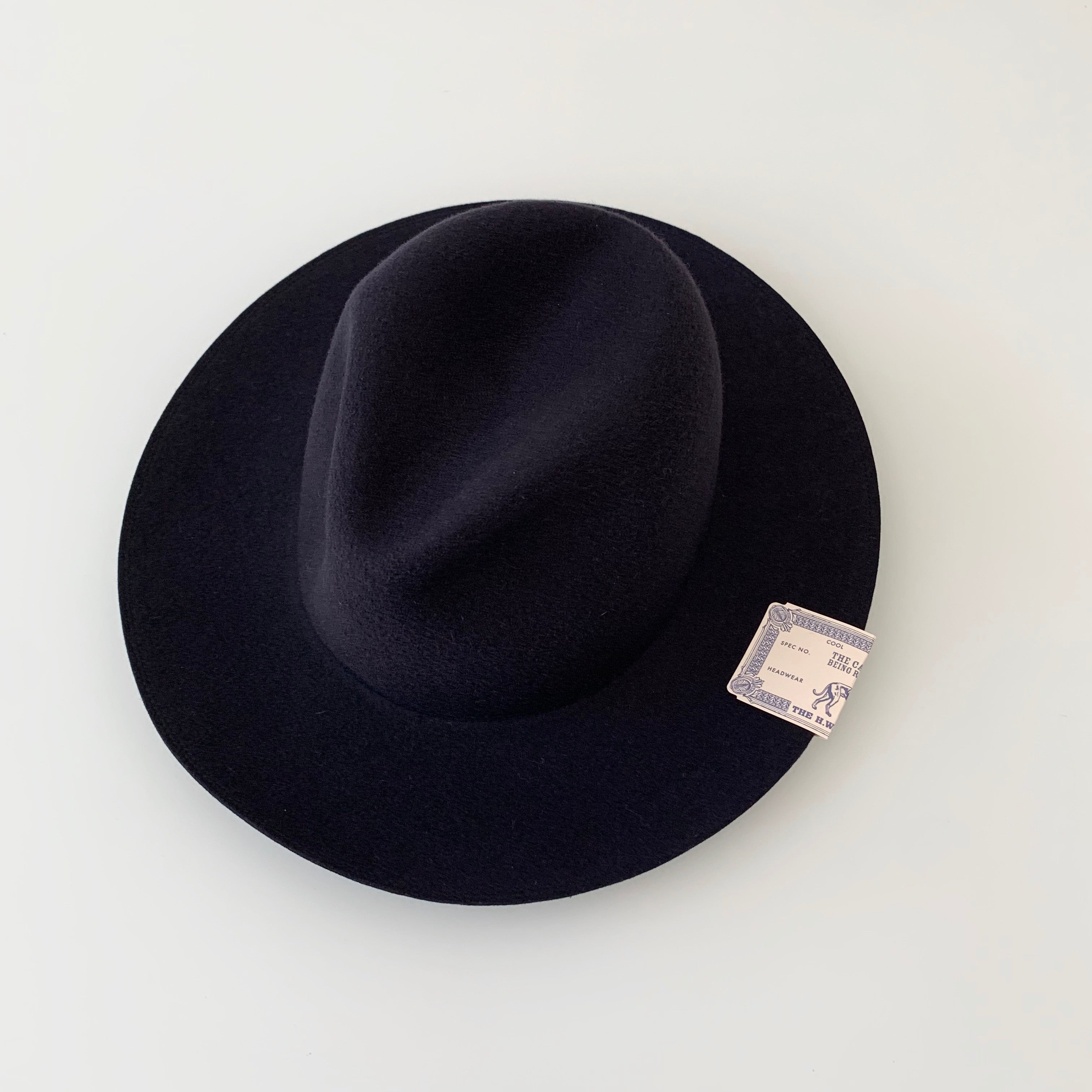 Travelers Hat in Navy Merino Wool Felt