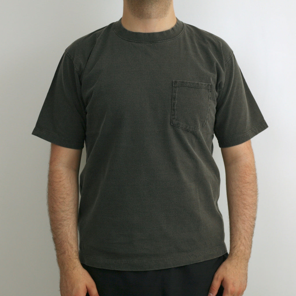 C.T.L. Saburoku Loopwheel Pocket T-Shirt - Sumi Ink Dyed