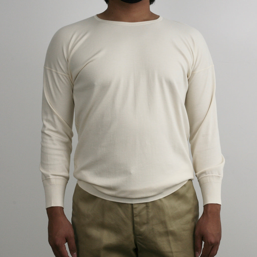 US004 Crew Neck Long Sleeve in Ivory