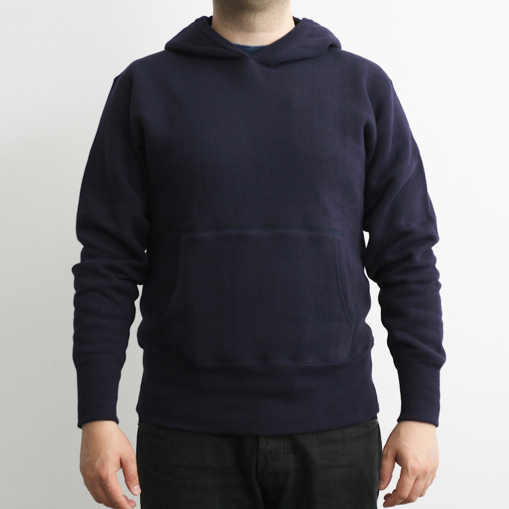 Tsuri-Ami Loopwheel Freedom-Sleeve Parka in Navy