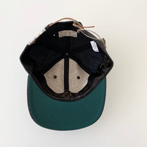 Baseball Cap in Charcoal Grey Wool Cotton