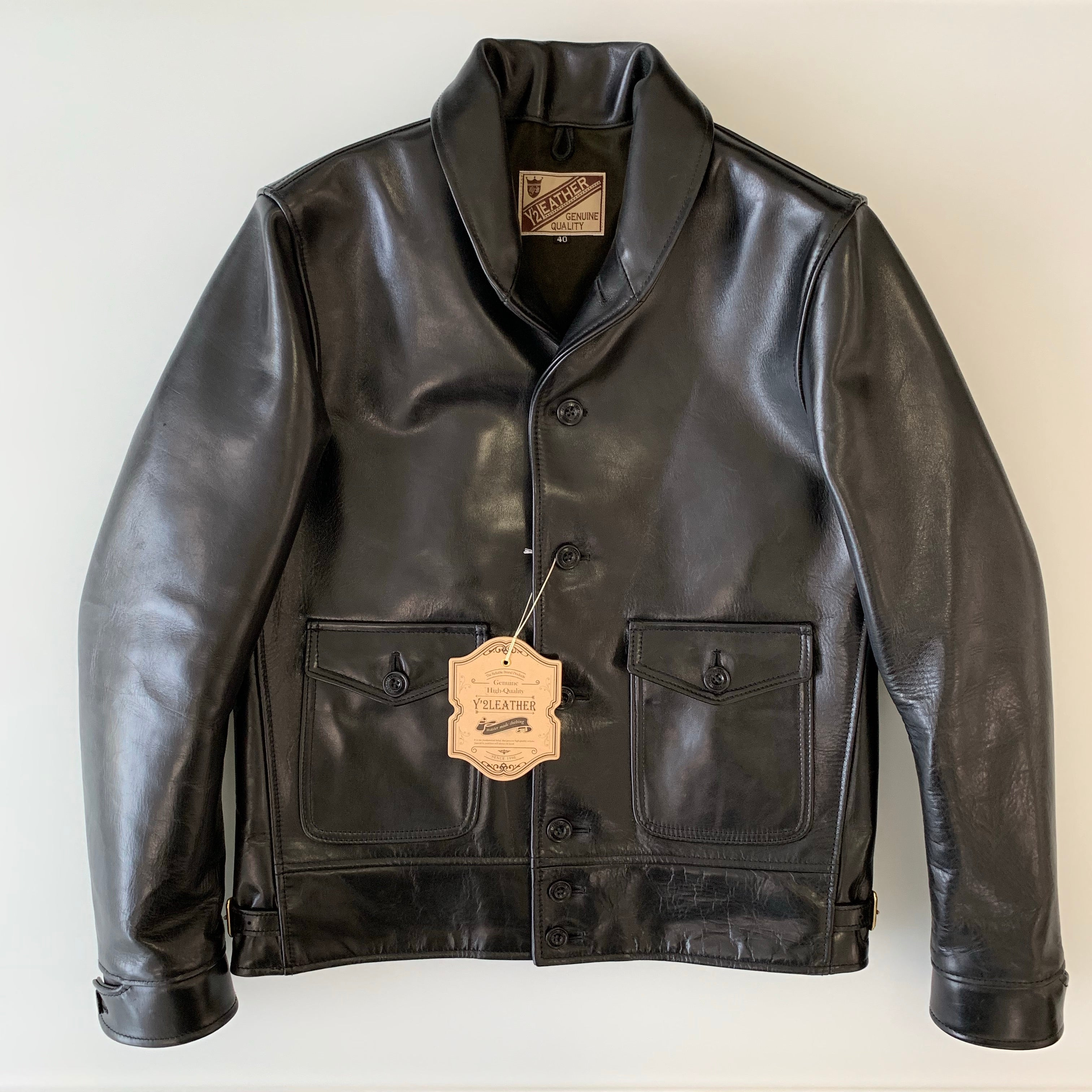 Aniline Horse Cossack Jacket A-1 in Black