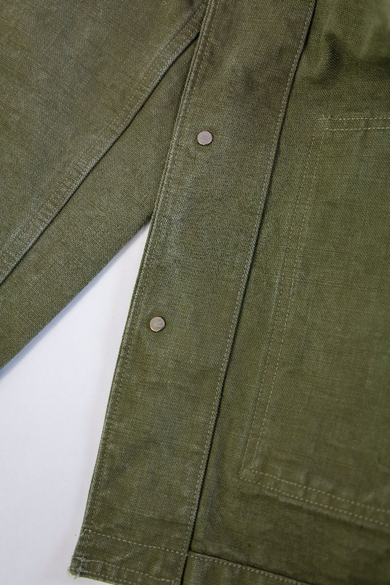 "YOUJKT 25oz ""Yoroi"" Heavy Canvas Utility Jacket in Olive"