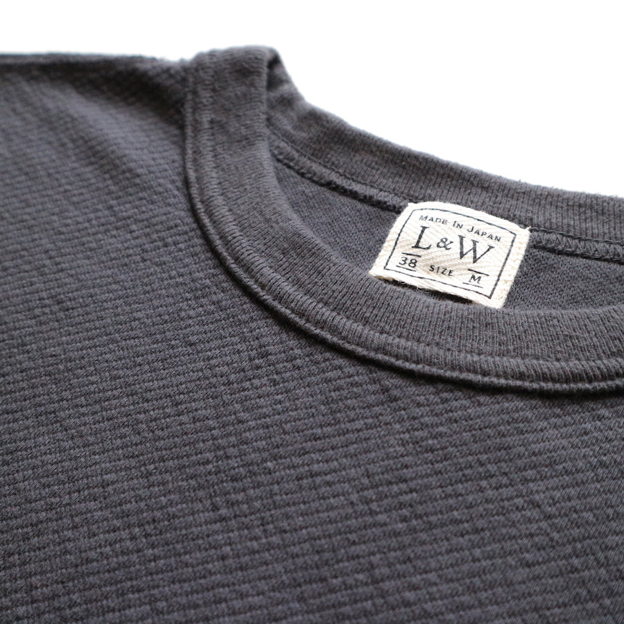 Twill Face Knit Military Crewneck in Deep Navy