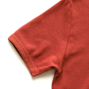 Twill Face Knit Military Crewneck in Deep Cherry