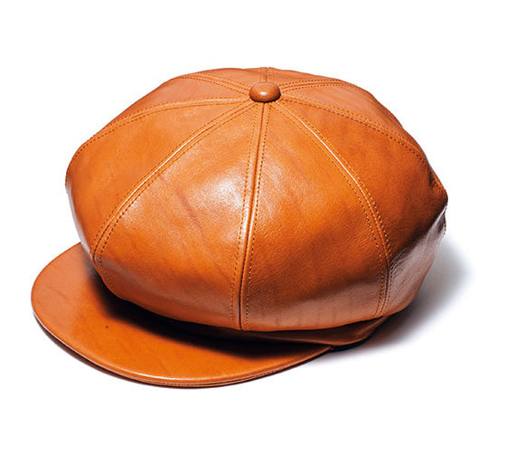 Aniline Horsehide Leather Casquette in Camel (LC-04)