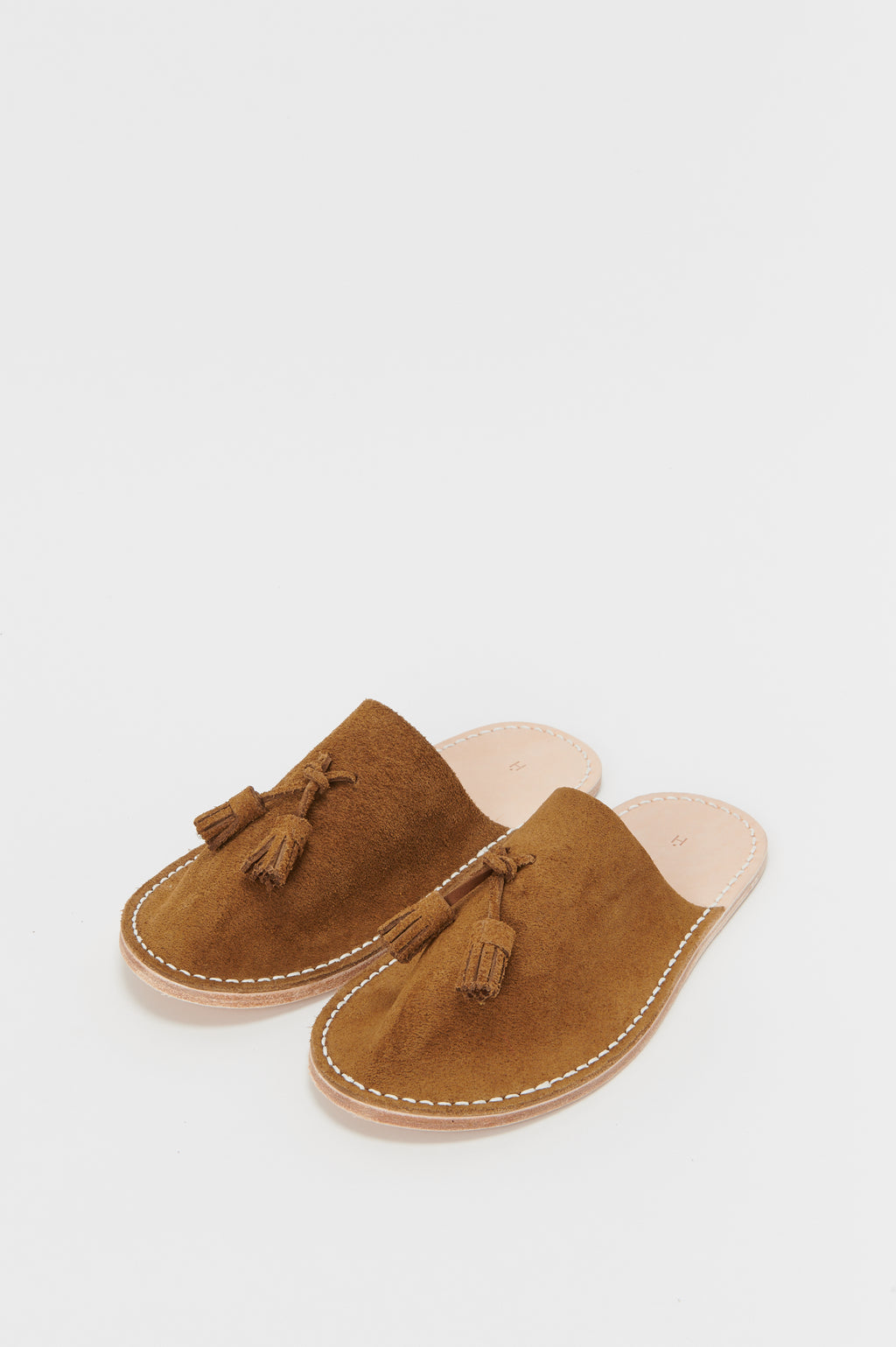Leather Slipper in Camel