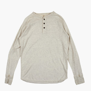 San Joaquin Cotton Raglan Henley in Oatmeal