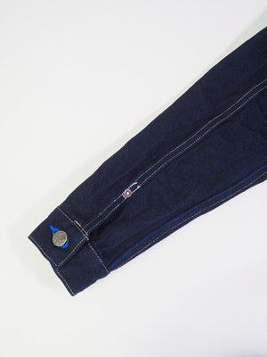 "YUJKT2 ""Yurai"" 16.5oz Natural Indigo Selvedge Type II Denim Jacket with Handwarmers"