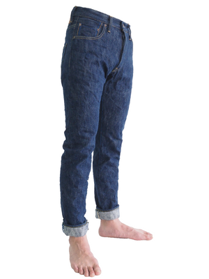 "Limited Edition - AHT Shoai ""Arashi"" Hank-Dyed Natural Indigo 18oz Selvedge Hi-Tapered Jeans"
