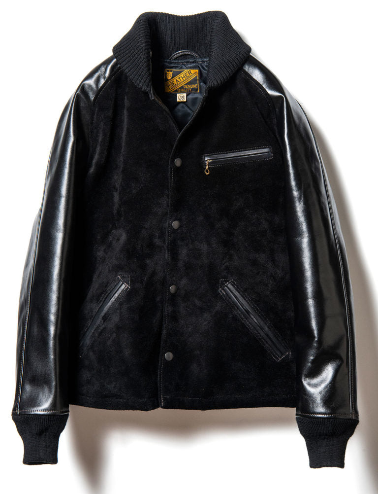 Steer Suede x Vintage Pony Pharaoh Jacket in Black (PB-147)