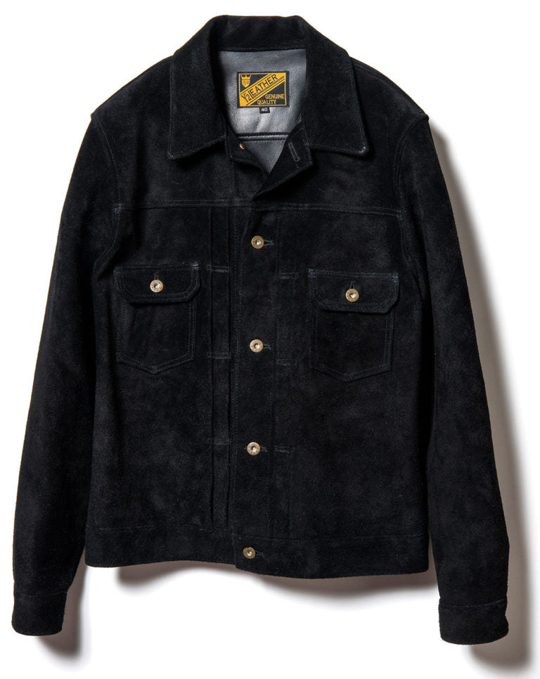 Steer Roughout Suede Type II G Jacket in Black (TB-141)