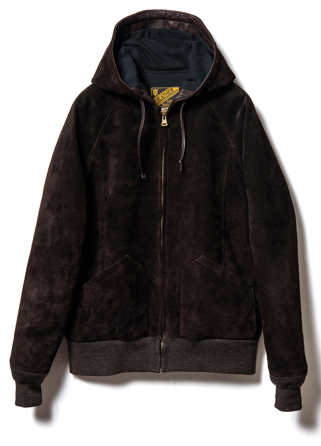 Steer Roughout Suede Hooded Parka  in Brown (TB-152)