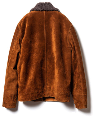 Crafted to Order: Steer Rough-Out Suede (Type N-1) Deck Jacket in Camel