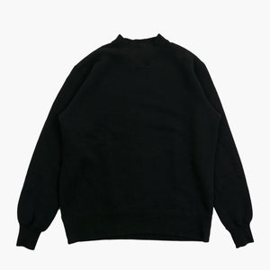 Tompkin's Knit 50's Ski Sweatshirt in Royal Black