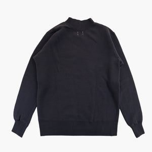 Tompkin's Knit 50's Ski Sweatshirt in Antique Purple Navy