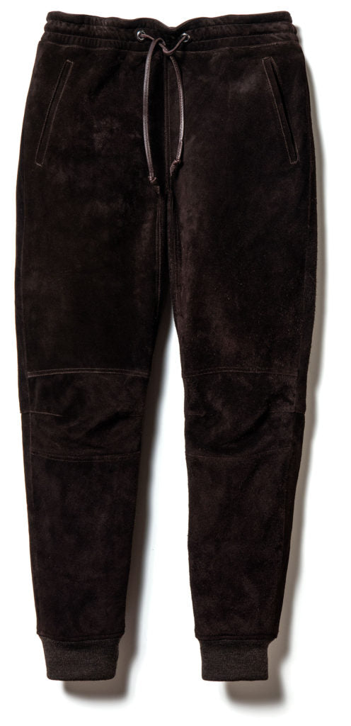 Pre-Order: Steer Roughout Suede Relax Tapered Pants in Brown (TB-08)