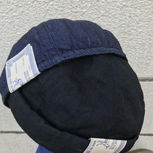 Black Denim Roll Cap