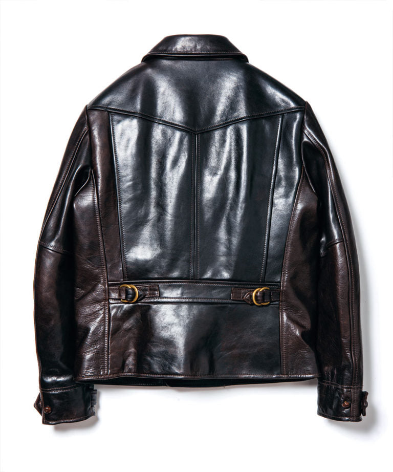 Crafted to Order: Hand Oil Horsehide 1930's German Sports Jacket in Brown (YK-01)