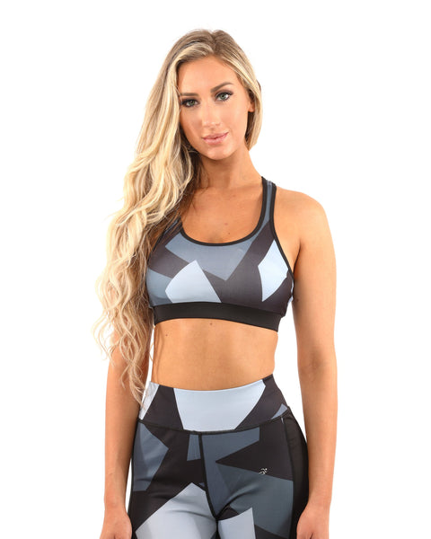 Bondi Sports Bra - Black/Grey - B Inspired Boutique