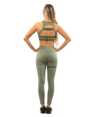 Huntington Sports Bra - Olive Green - B Inspired Boutique