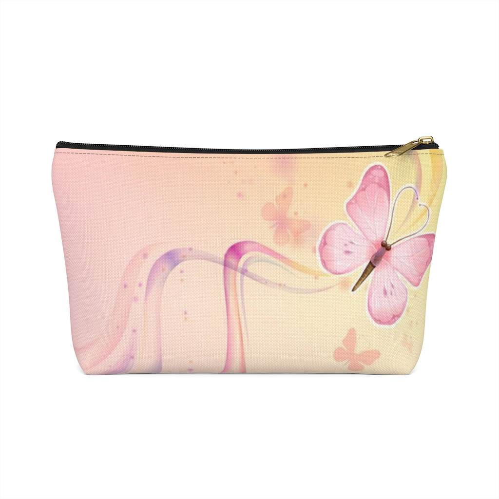 Sweet Butterfly Cosmetic Pouch w T-bottom
