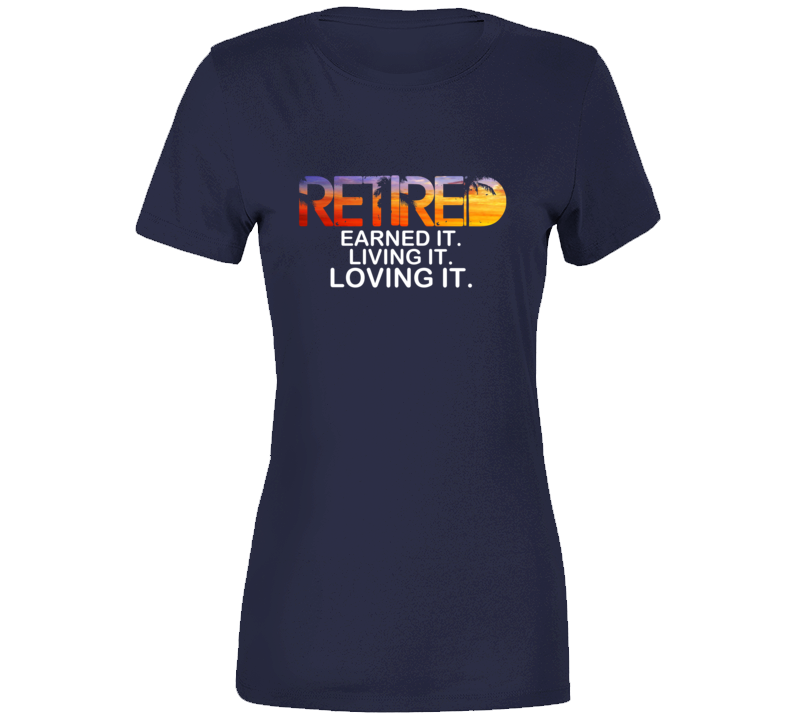 Retired Ladies T-shirt - Navy - B Inspired Boutique