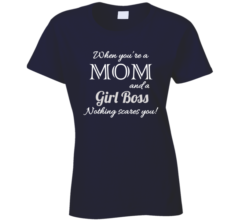 Mom & Girl Boss Nothing Scares You - Navy - B Inspired Boutique