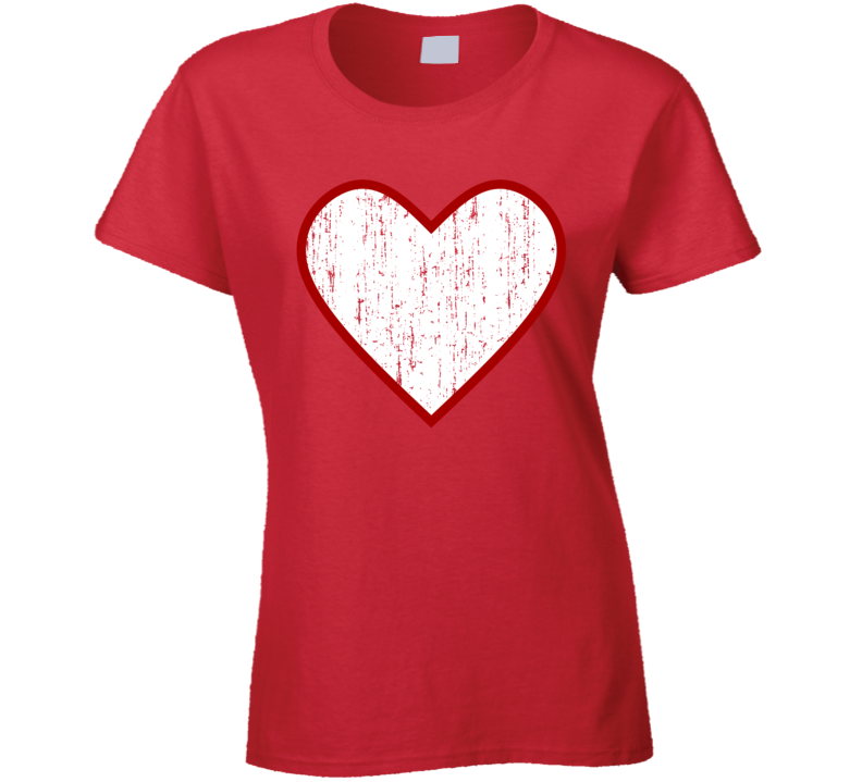 Red Heart  T Shirt - B Inspired Boutique
