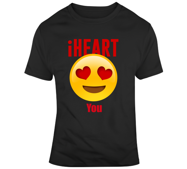 Emoji I Heart You Unisex  - Black T Shirt - B Inspired Boutique