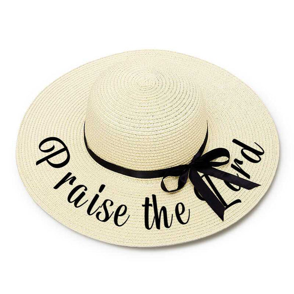 Praise the Lord Embroidery Floppy Beach Hat