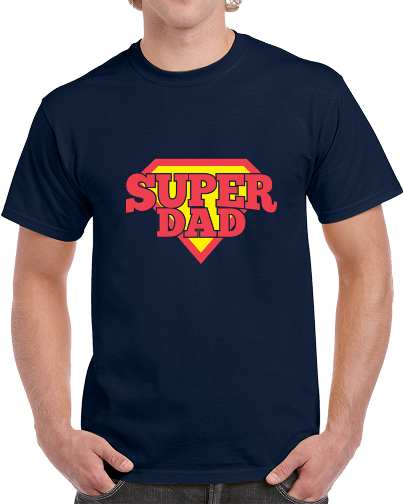 Super Dad - Navy T Shirt - B Inspired Boutique