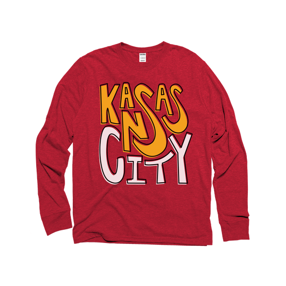 Kansas City Unisex Eco-Triblend Long Sleeve Tee