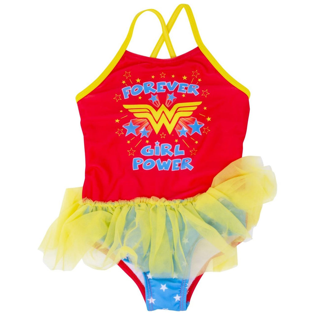 Wonder Woman Girl Power Toddlers One Piece Swimsuit - B Inspired Boutique