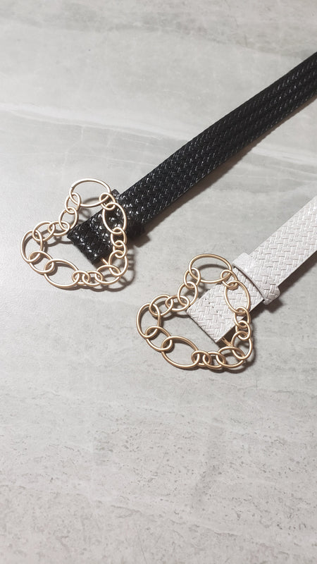 Chain Link Heart Waist Belt