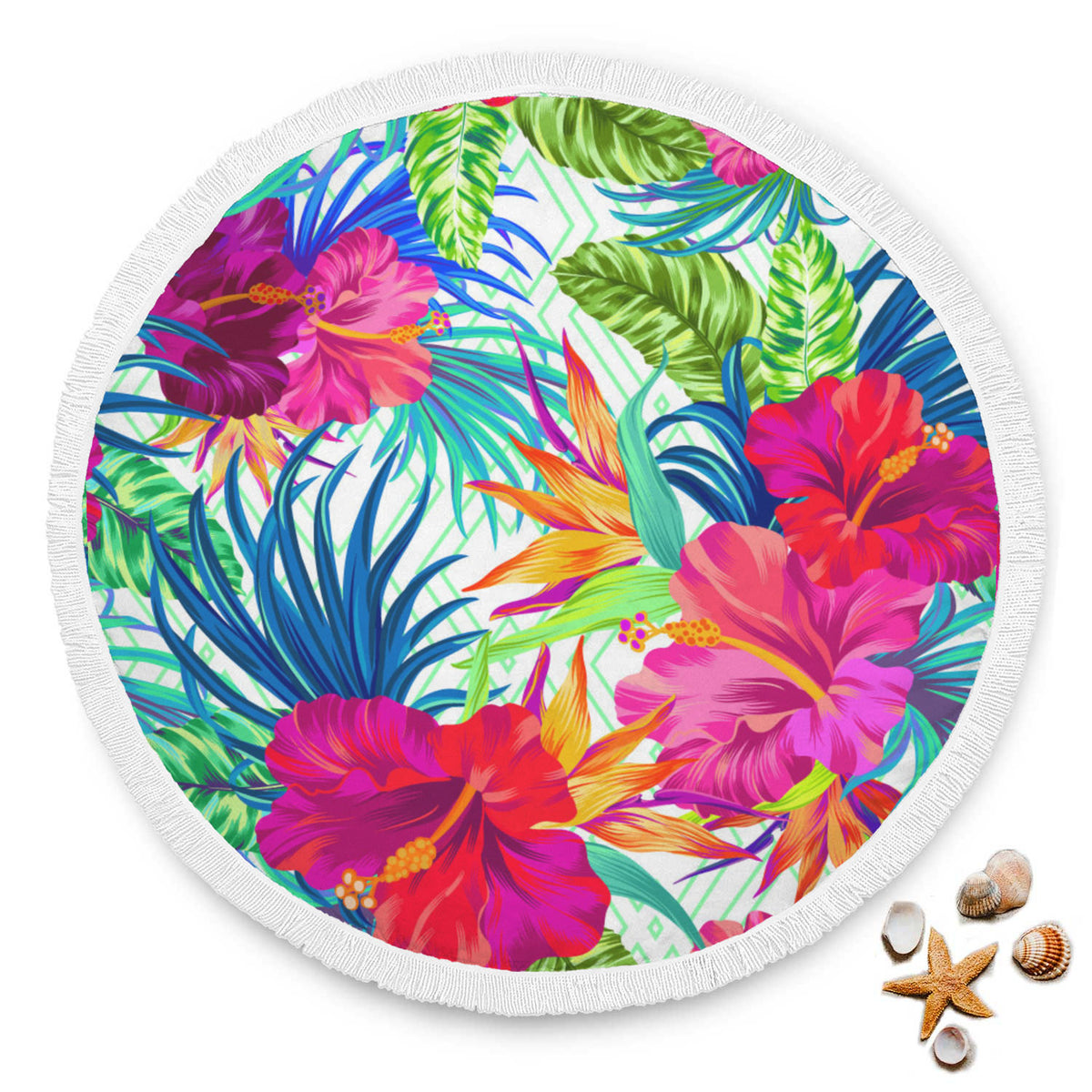 Tropical Blooms Beach Blanket