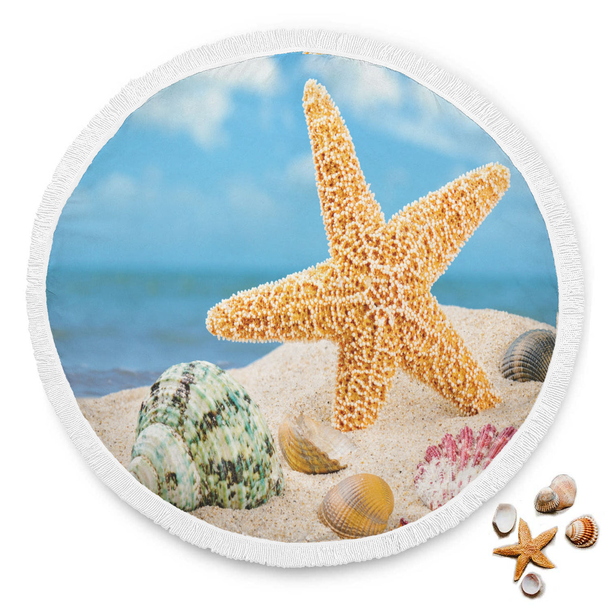 Star Fish in the Sand Beach Blanket