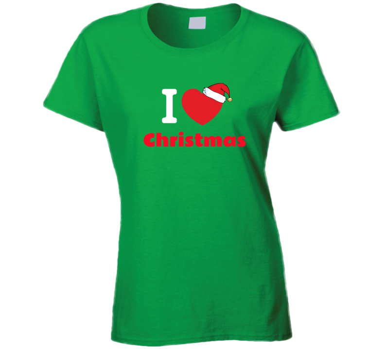 I Love Christmas Tee - T Shirt * For Women & Men - B Inspired Boutique