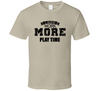 Less Work More Playtime Mens Tee - Tan T Shirt - B Inspired Boutique