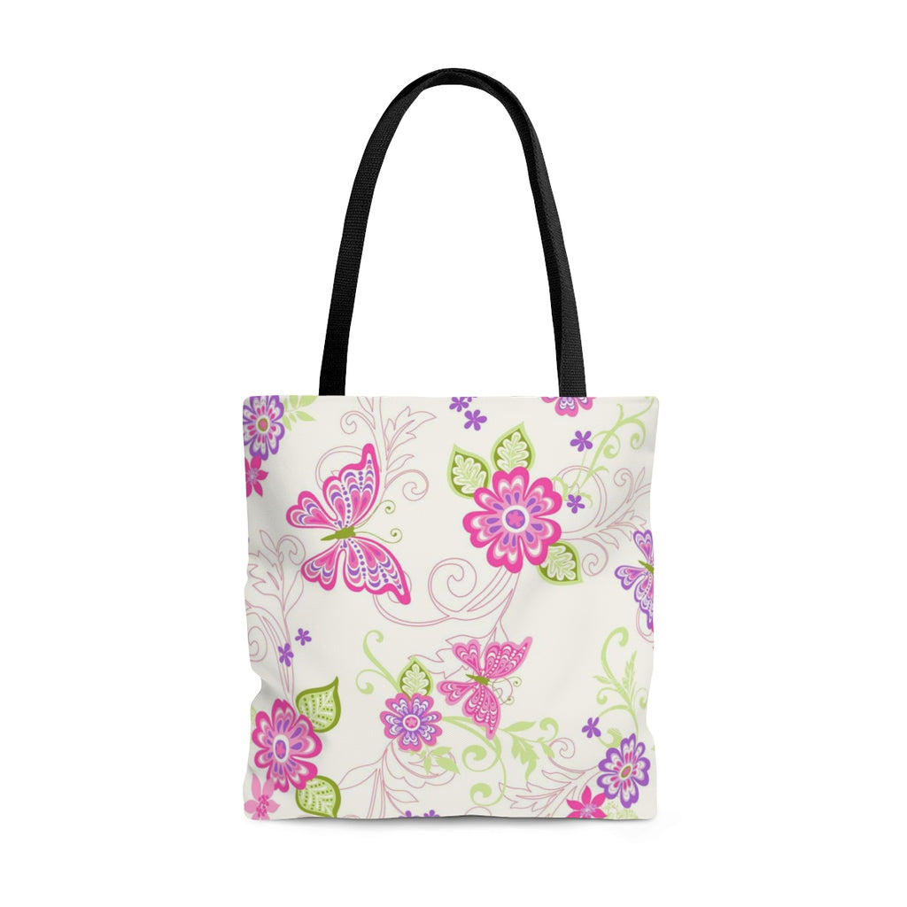 Floral Butterfly Bloom Tote Bag - B Inspired Boutique