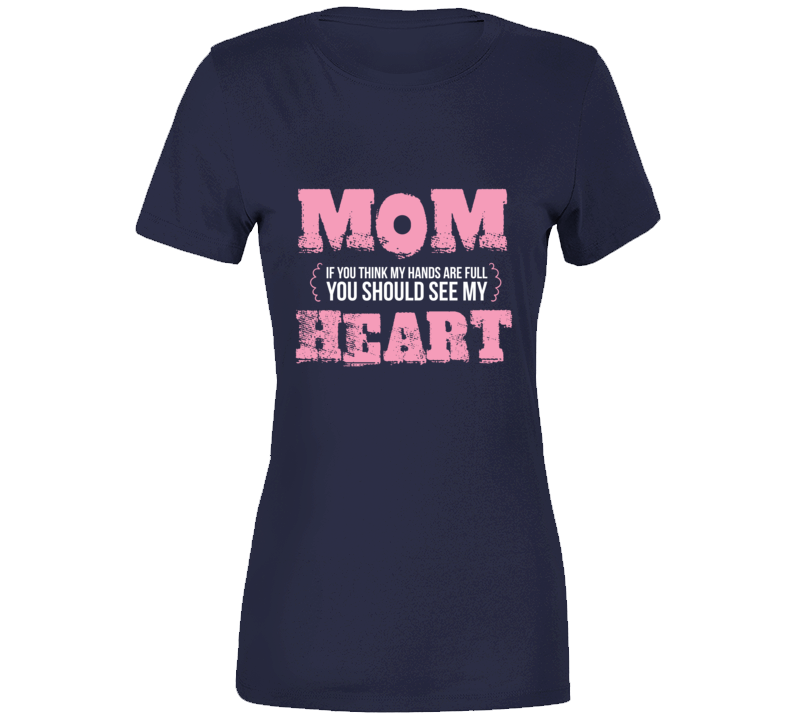 Mom Heart - Navy T Shirt - B Inspired Boutique