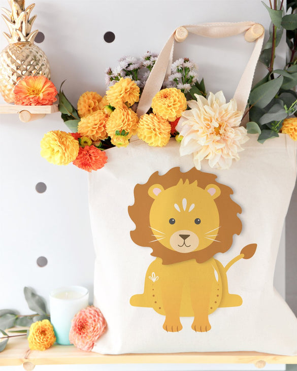 Lion Cotton Canvas Tote Bag