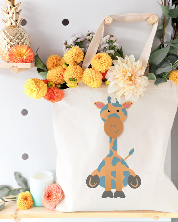 Giraffe Cotton Canvas Tote Bag