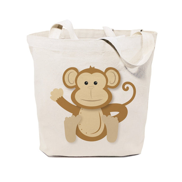 Monkey Cotton Canvas Tote Bag