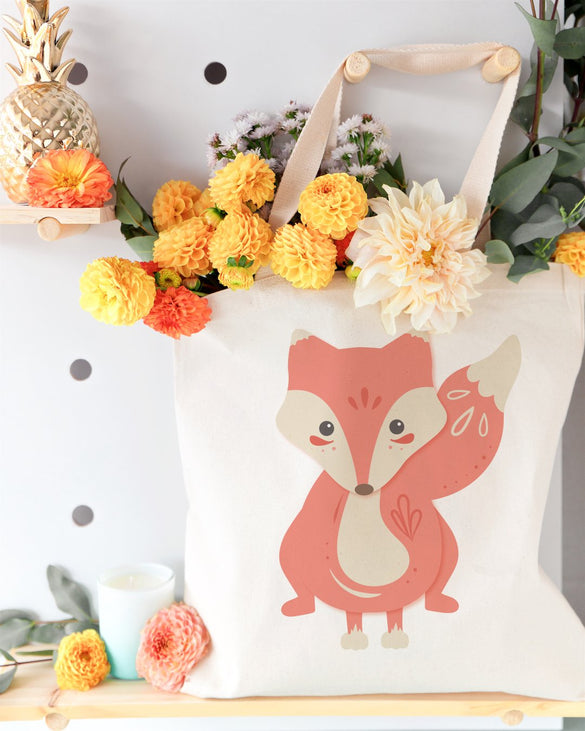 Fox Cotton Canvas Tote Bag