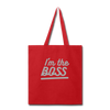 I'm the Boss Tote Bag - Red - B Inspired Boutique