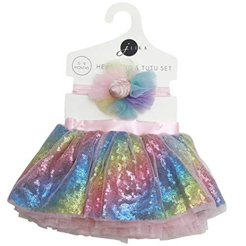 Unicorn Glitter Newborn Baby Girl Tutu Set (0-9 Months)
